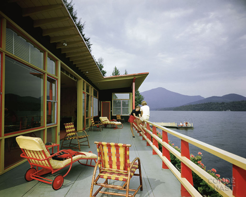 Rose Summer House, Lake Placid, NY.  Robert Allen Jacobs, Architect, 1947. Robert Damora, Photographer, 1948.